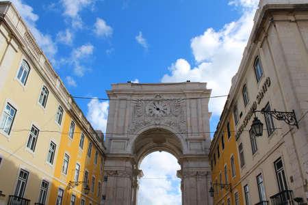 Lovely buildings in Lisbon Editorial