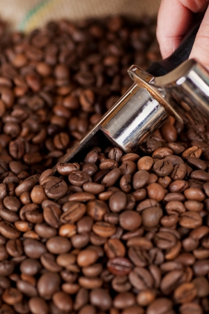 coffeebeans: Removing coffee Beans with a coffee bean spoon