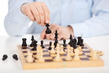 A skillful chess player makes his move Stock Photo - 20863907