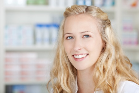 Environmental portrait of a medical personnel in pharmacy photo