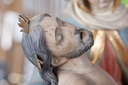 Close up of Jesus Christ statue at workshop Stock Photo - 21246235