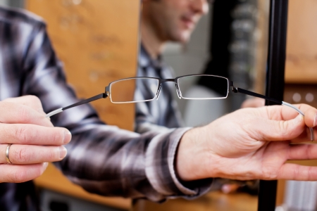 stretchy: Cropped image of optician