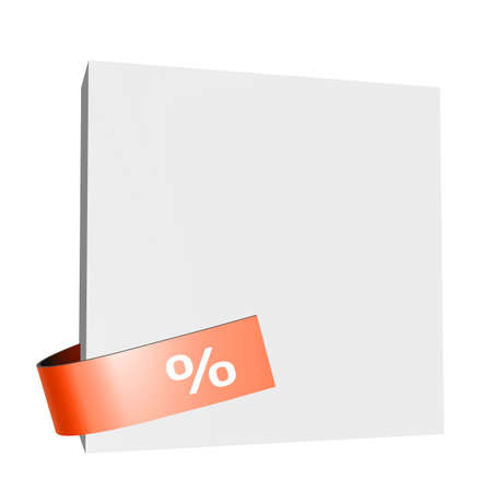 proportionate: White board with a red percentage sign Stock Photo