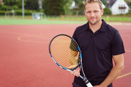 Man single tennis