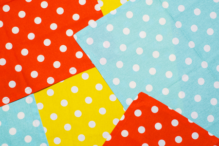 Colorful polka dot napkins pattern.