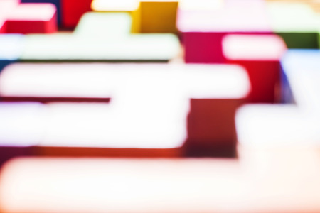blurring: Blur color abstraction. Blurring background, geometric forms, Tetris, Puzzles. Multicolored background Stock Photo