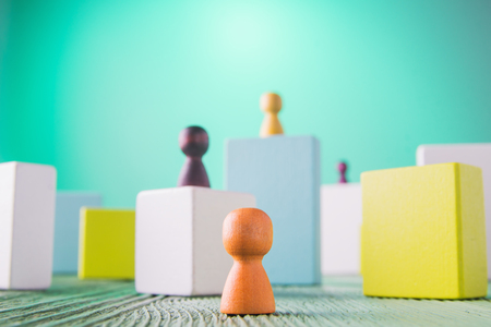 Achieving success. Business competition. Career, social status, business metaphor. The concept of unequal competition.