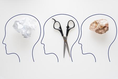 Rock, Scissors, Paper. Hand game. Standard-Bild - 106354208
