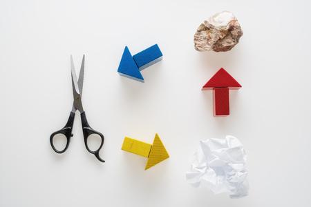 Rock, Scissors, Paper. Hand game. Standard-Bild - 106354220