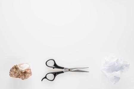 Rock, Scissors, Paper. Hand game. Standard-Bild - 106385426