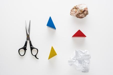 Rock, Scissors, Paper. Hand game. Standard-Bild - 106385427