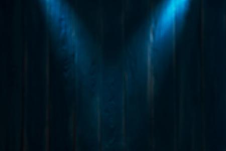 Blurred blue wooden background. Magic illuminated stage in dark blue colors. Standard-Bild - 106385438