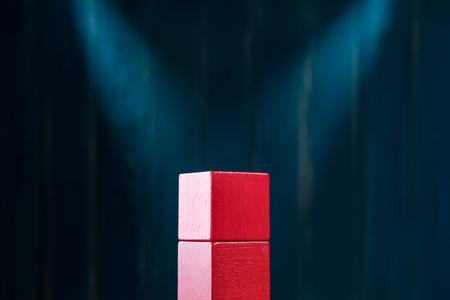 The concept of rewarding on a pedestal, victories and achievemen Standard-Bild - 106385468