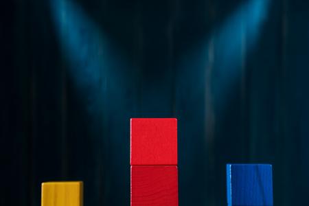 The concept of rewarding on a pedestal, victories and achievemen Standard-Bild - 106385606