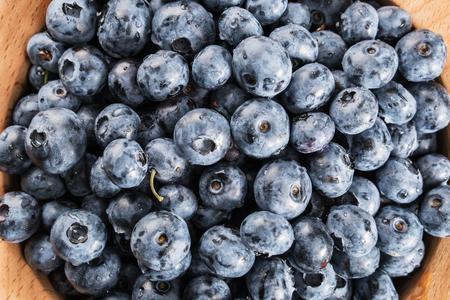 Fresh blueberries closeup.  Antioxidant organic superfood. Standard-Bild - 106385782