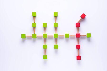 Risk management concept. Data charts. Business concept.