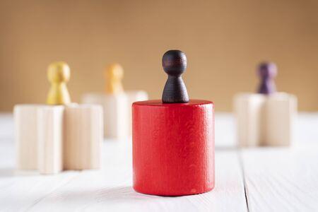 Achieving success. Business competition. Career, social status, business metaphor. The concept of unequal competition. Reklamní fotografie