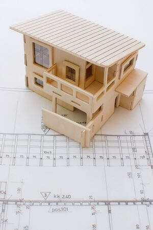 prefabricated: Architecture model house showing building structure
