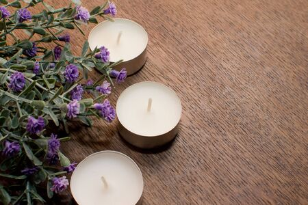 Candles and flowers  photo