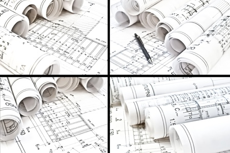 architectural drawing blueprints photo