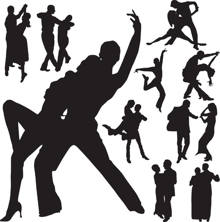 salsa dancing: dance vector Illustration