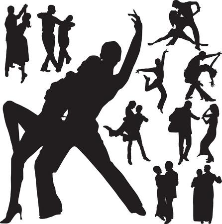 bailes de salsa: vector de danza  Vectores