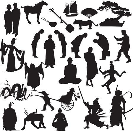 monjes: la silueta de este vector