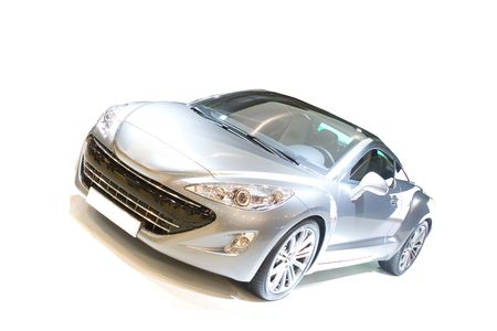 new motor car: Sports car on white ground