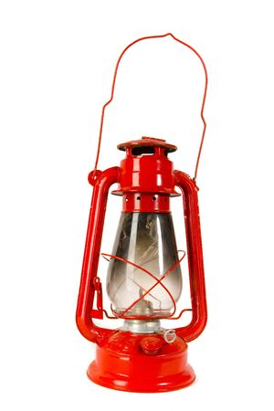 red oil lamp: Red Oil Lamp on white ground