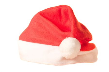 christmas ground: Christmas hat on white ground