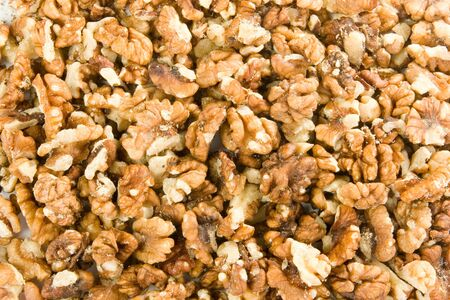 circassian: Cleaned circassian walnuts as a background