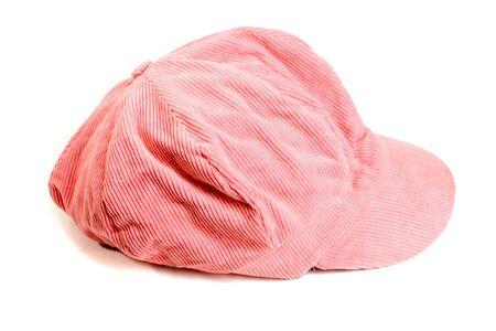 Pink kepi on white ground Stock fotó