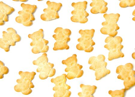 Background of yellow salty crackers Stock Photo - 4198765