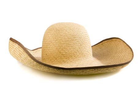 sombrero hat isolated on white photo