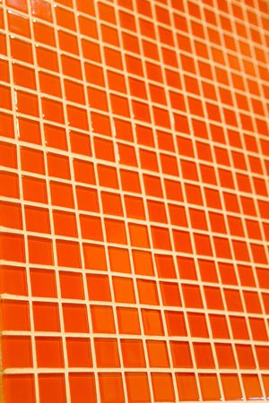 Orange mosaic texture for abstract background photo