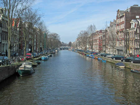 Typical canal in Amsterdam