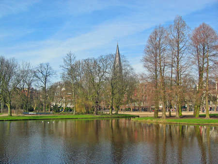 Lake in a Park in Amsterdam photo