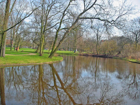 River in a park in Amsterdam