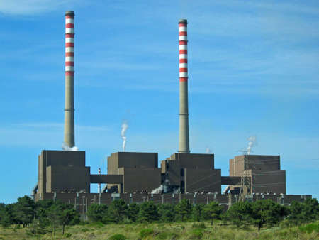 Coal power plant, in Sines, Portugal Stock Photo