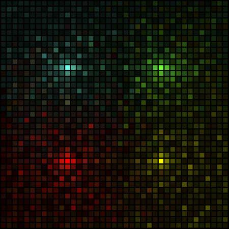 grid: Mosaico multicolore, simulando le luci