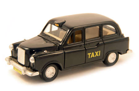 London souvenir, depicting a typical taxi of the city