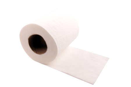 Toilet Paper, isolated on white photo