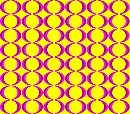 sixties: Retro colorful Seventies seamless pattern Illustration