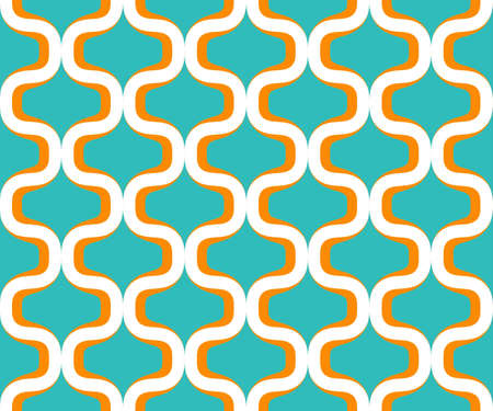 Retro colorful seventies seamless pattern Vector