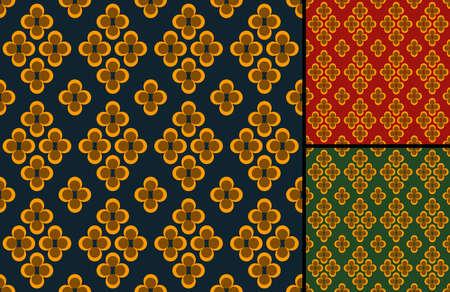 Retro old fabric pattern Stock Vector - 7639487