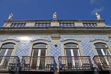 View from a typical portuguese house, with azulejos photo