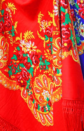 Typical colourful embroidery textiles from northen Portugal