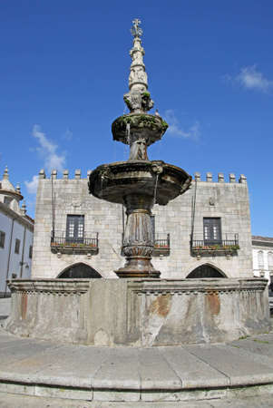 View from a medieval plaza in Viana do Castelo, Portugal photo