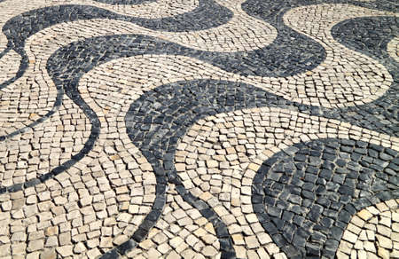 Typical portuguese sidewalk Stock Photo