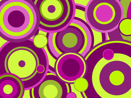 Colorful funky circles Vector